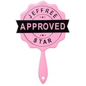 Jeffree Star Pink and Black Approved Stamp Mirror